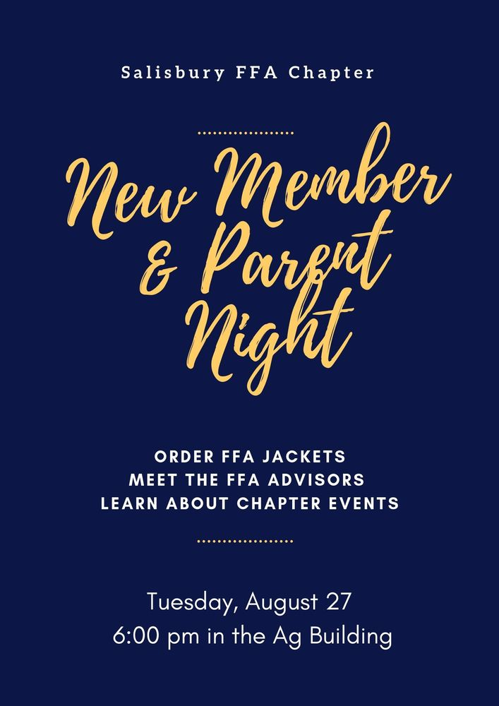 FFA New Member & Parent Night