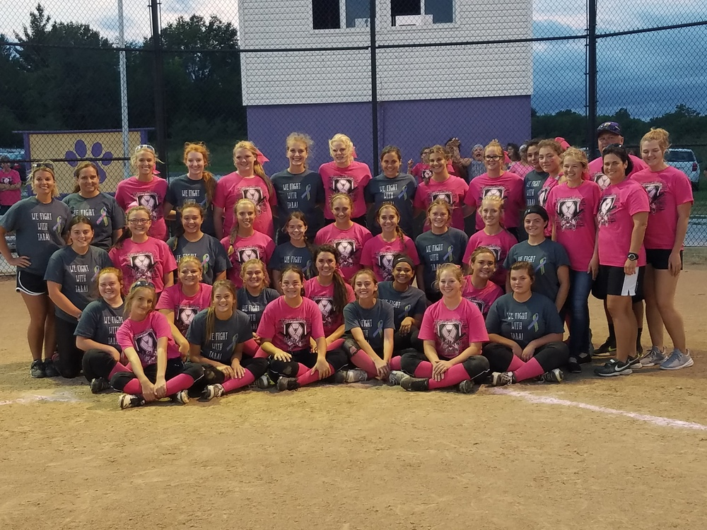 Softball Rivals Unite to support Cancer Awareness