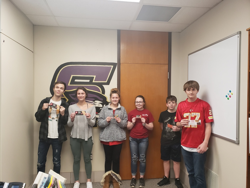 Perfect Attendance Lottery Winners for Week of 1/31/2020