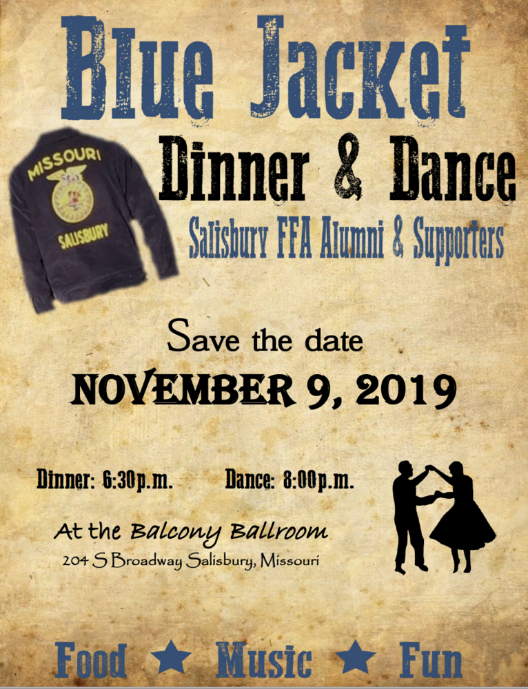 Salisbury FFA Alumni Invite You to the Blue Jacket Dinner & Dance