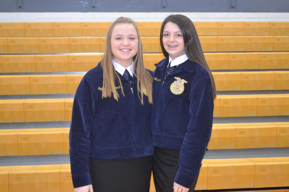 Jacee Bixenman and Sydney Stundebeck Selected to Perform at FFA State Convention