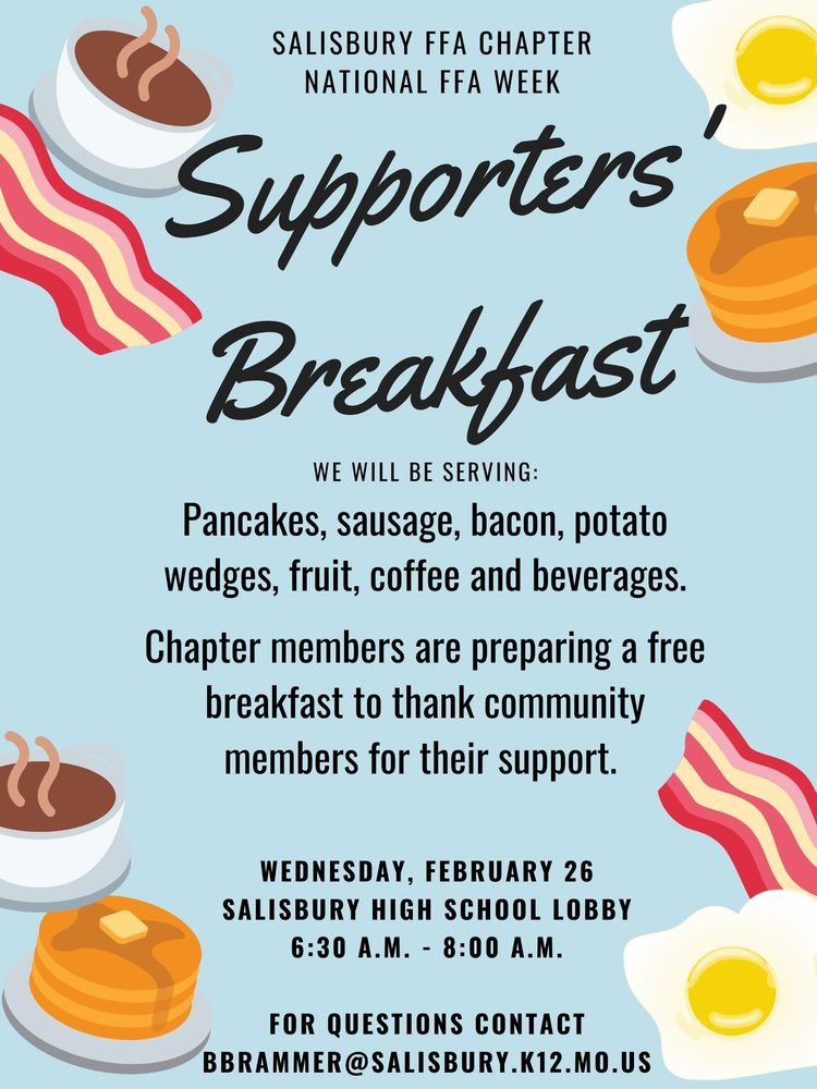 Join Salisbury FFA for the Supporters' Breakfast