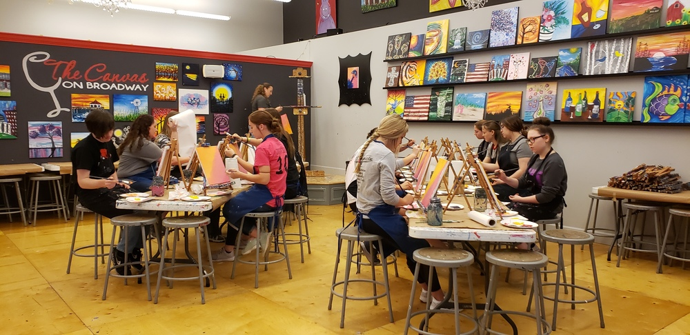 Art Club Trip to Canvas on Broadway