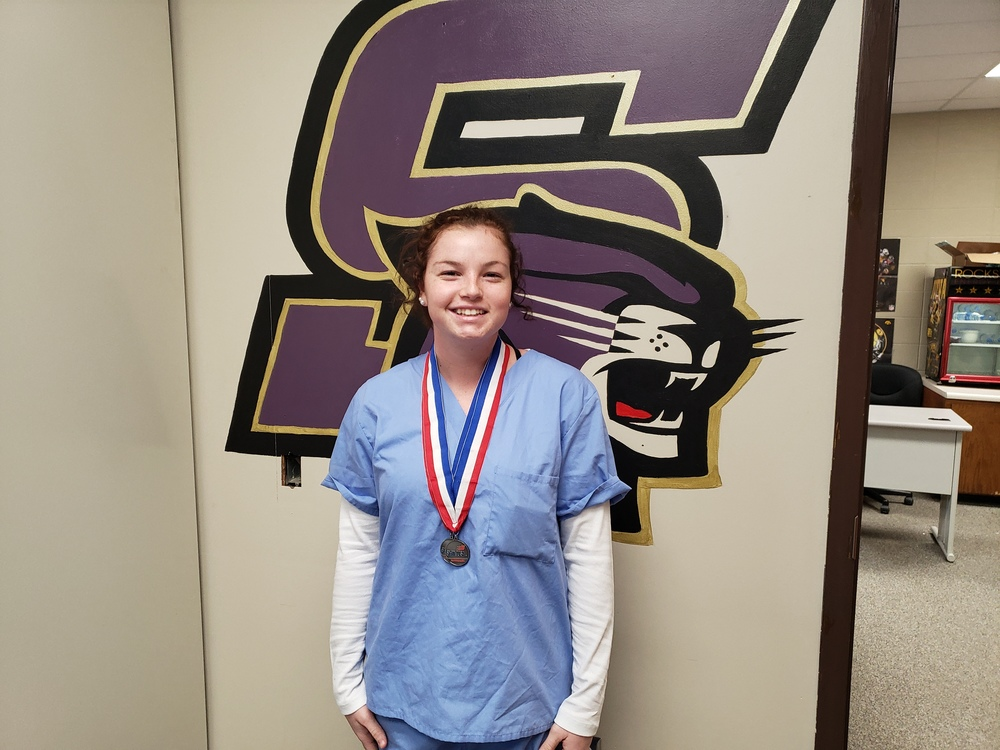 SHS senior, Katelynn Gerdes, wins 2nd place at Skills USA Districts
